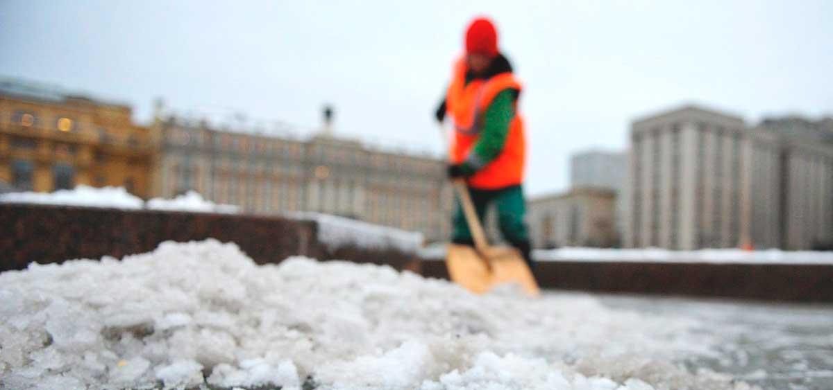 Очистка крыши снег