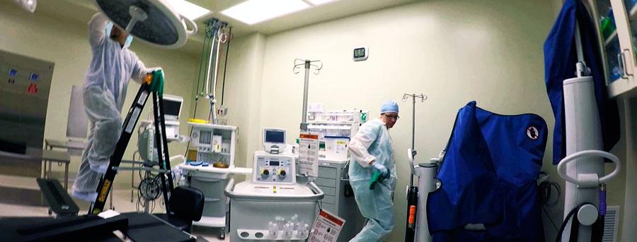 уборка в медицинском центре